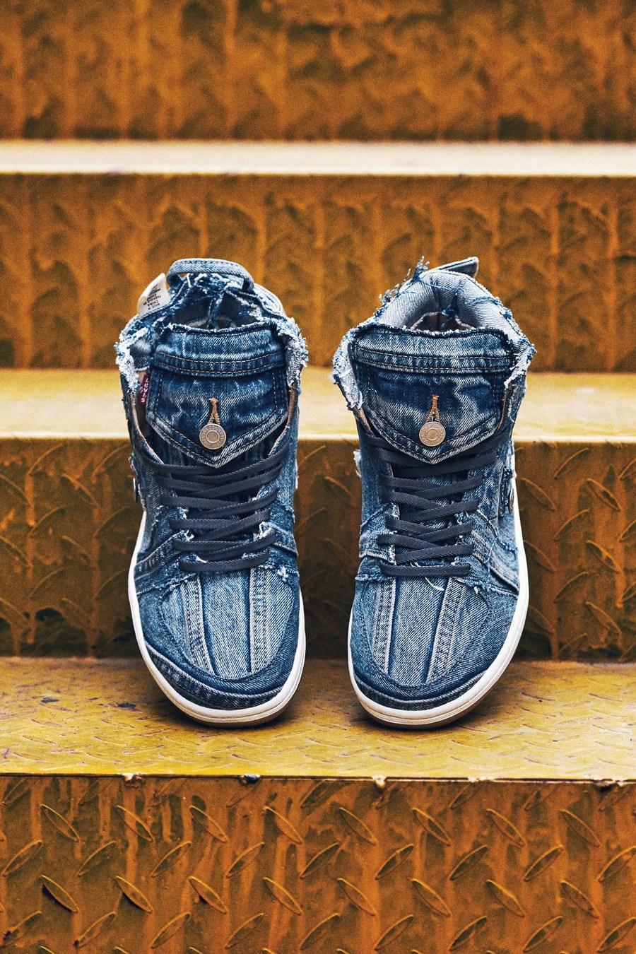 Air Jordan 1,Levi's,The Remade  细节更纯粹!Levi's x Air Jordan 1 客制版本欣赏